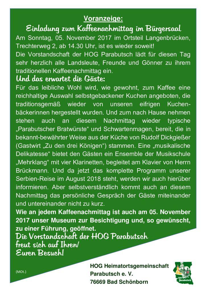 thumbnail of Voranzeige, Kaffeenachmittag, Nov. 2017
