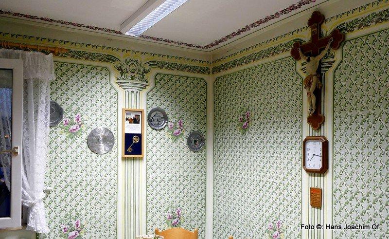 Wandmalerei in der Küche